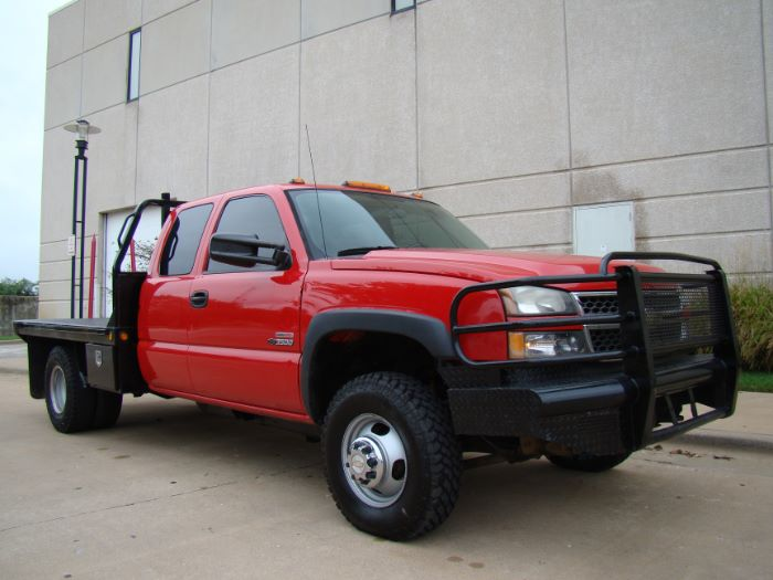 2005 Chevrolet Silverado 3500 EXT CAB FLAT BED 4X4 ~ DURAMAX DIESEL!!