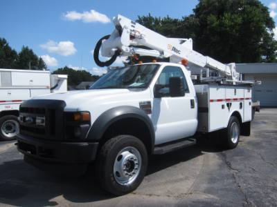 2008 Ford Super Duty F-550 DRW DIESEL 4X4 BUCKET TRUCK