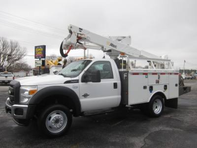 2012 Ford SUPER DUTY F-550 BUCKET TRUCK 4X4 6.7 DIESEL ~ ALTEC AT37G