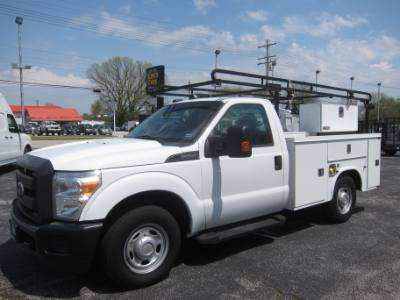 2014 Ford Super Duty F-250 SRW XL 2WD SERVICE BODY ~ DUEL FUEL 6.2 GAS OR CNG