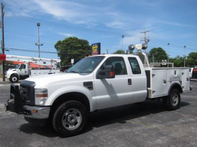 2009 Ford Super Duty F-350 SRW XL SUPERCAB 4X4 DIESEL ~ SERVICE BODY ~ INVERTER