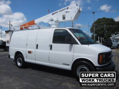 2001 Chevrolet Express Cargo Van 3500 BUCKET VAN ~ DURAMAX