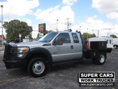 2013 Ford SUPER DUTY F-550 FLATBED EXTENDED CAB 4X4 6.7 DIESEL