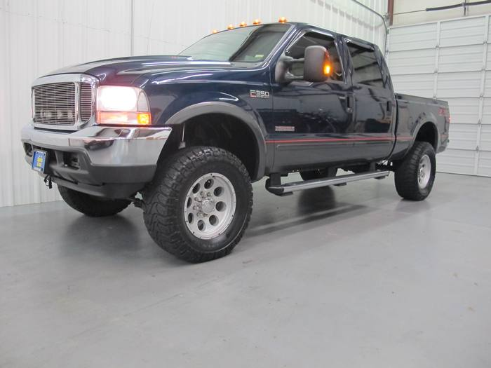 2004 Ford Super Duty F-350 SRW FX4 package 4x4 Leather DVD Crew HUGE LIFT