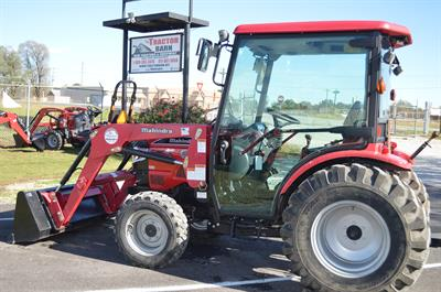 2014 Mahindra 3616 cab tractor W/ 5 ft. HD cutter  6 ft. box blade