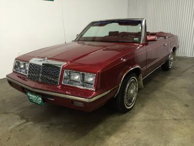 1985 Chrysler Lebaron CONVERTABLE