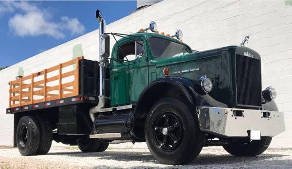 1963 White R25 Flat Bed Dump Truck