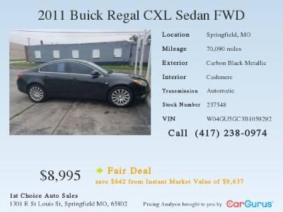 2011 Buick Regal CXL RL6