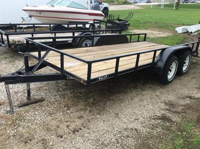 2001 Rice 16' Utility Trailer New Floor w/ Title