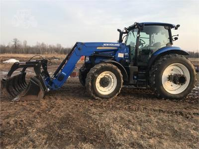 2014 New Holland T6.175 loader w/ grapple