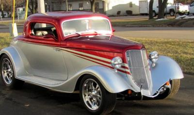 1934 Ford 3 Window Restored Coupe