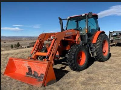 2017 KUBOTA M6-141  DTC-F  4WHEEL DRIVE CAB TRACTOR WITH LOADER