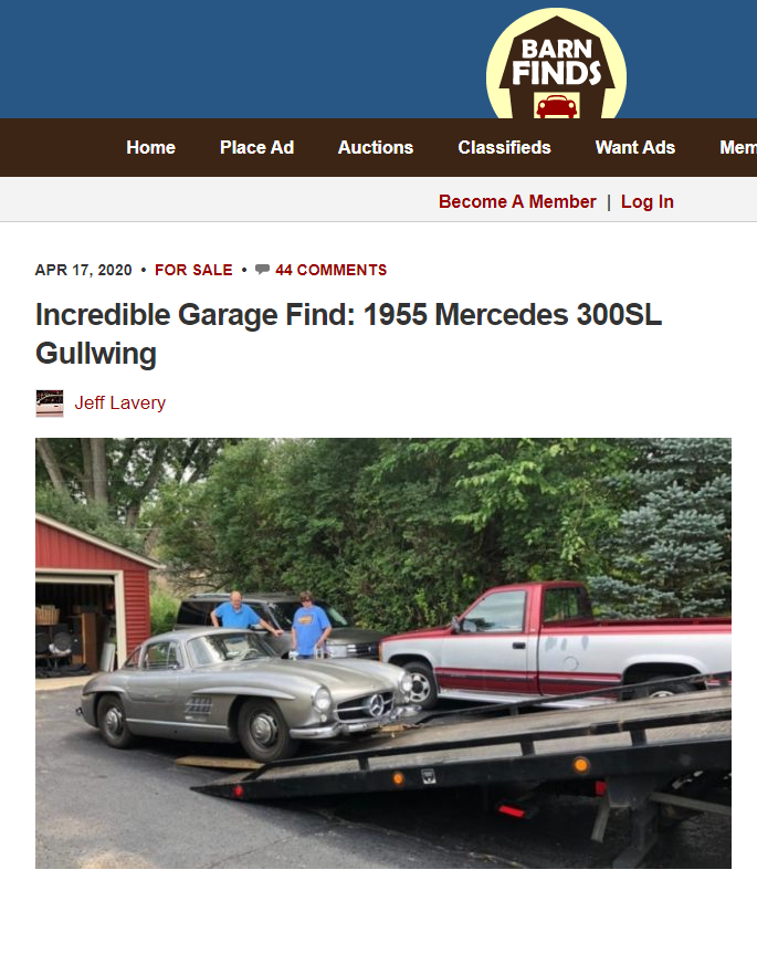 Peter Kumar on Barnfinds. Gullwing Motor Cars. Classic Cars